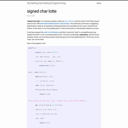 signed char lotte