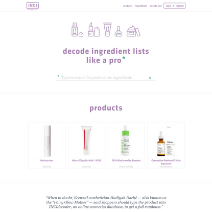 INCIDecoder - Decode your skincare ingredients
