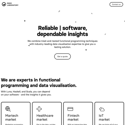 Enso Laboratory - Reliable software, dependable insights.