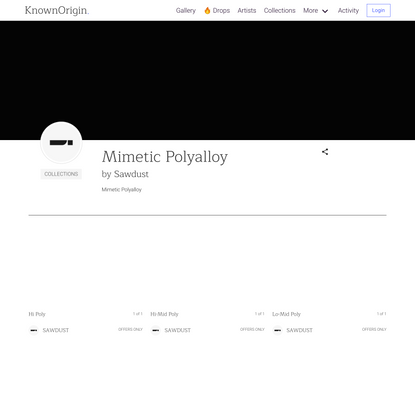 Mimetic Polyalloy by Sawdust