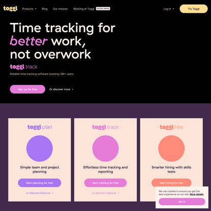 Toggl: Time Tracking, Project Planning and Hiring Tools to Help Teams Work Better