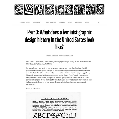 Part 3: What does a feminist graphic design history in the United States look like?