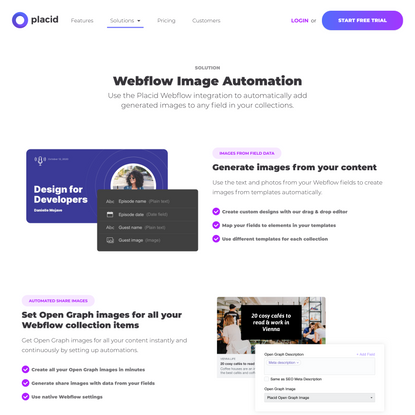 Webflow Share Image Automation