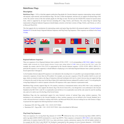 BabelStone Fonts : BabelStone Flags