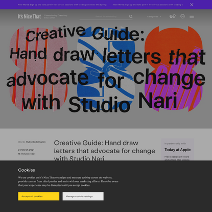 New World: Hand draw letters that advocate for change with Studio Nari