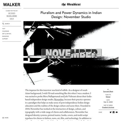 Pluralism and Power Dynamics in Indian Design: November Studio