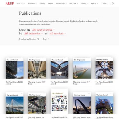 Publications - Arup