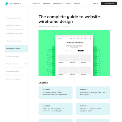 The complete guide to website wireframe design
