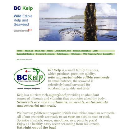 BC KELP ~Wild Sea Vegetables~