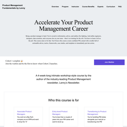 Accelerate Your Product Management Career