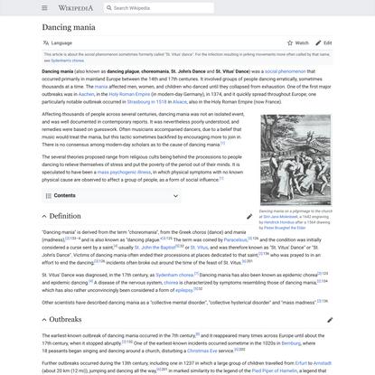 Dancing mania - Wikipedia
