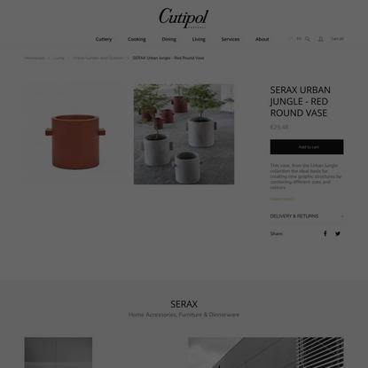 SERAX Urban Jungle - Red round vase | Cutipol - Official Store