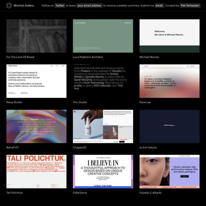 Minimal Gallery – Web design inspiration