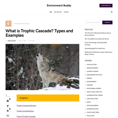 What is Trophic Cascade? Types, Examples | Environment Buddy