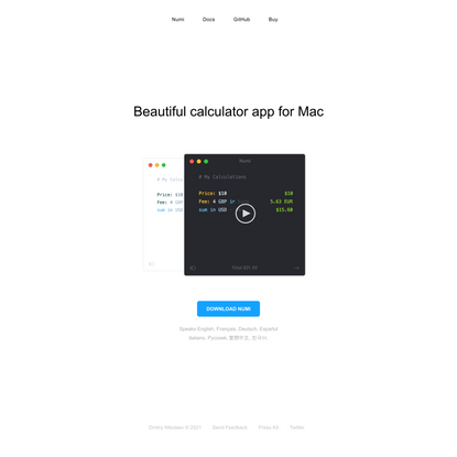 Beautiful calculator for Mac