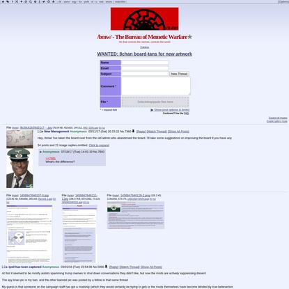 /bmw/ - The Bureau of Memetic Warfare