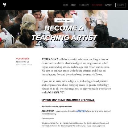 Teach With Us — POWRPLNT