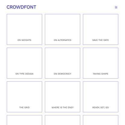 Home - CROWDFONT