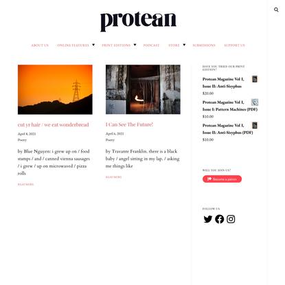 Protean Magazine – Latest Articles
