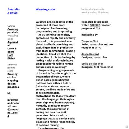 Weaving code — amandinedavid.com
