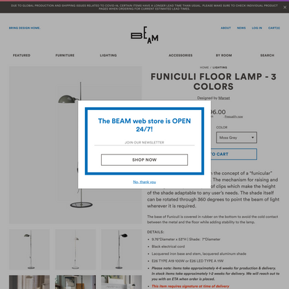 Funiculi Floor Lamp - 3 Colors