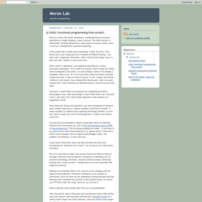 Urbit: functional programming from scratch