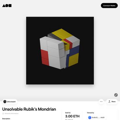 Unsolvable Rubik's Mondrian   Foundation