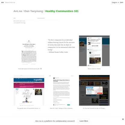 Are.na / Healthy Communities 101