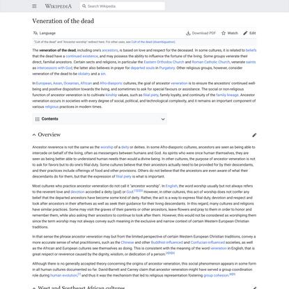 Veneration of the dead - Wikipedia