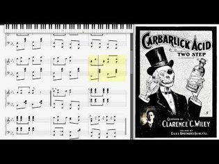 Carbarlick Acid by Clarence Wiley (1904, Ragtime piano)