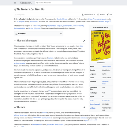 If He Hollers Let Him Go - Wikipedia