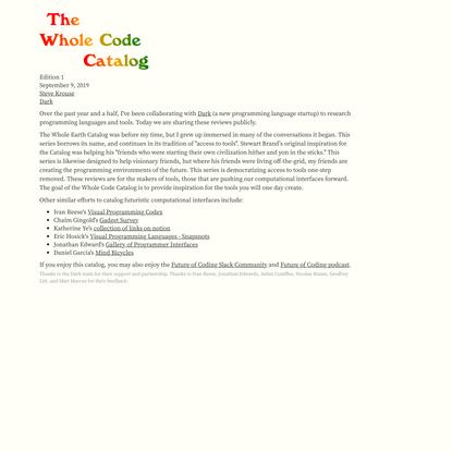 The Whole Code Catalog