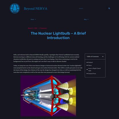 The Nuclear Lightbulb – A Brief Introduction – Beyond NERVA