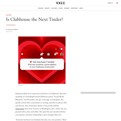Is Clubhouse the Next Tinder?