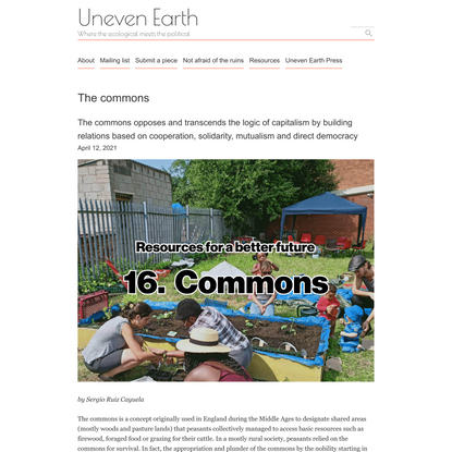The commons – Uneven Earth