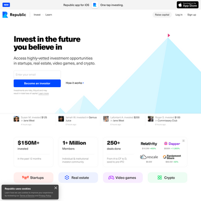 Republic — Invest in Startups