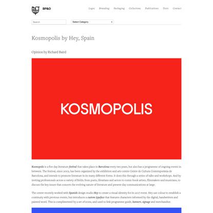 New Brand Identity for Kosmopolis by Hey — BP&O