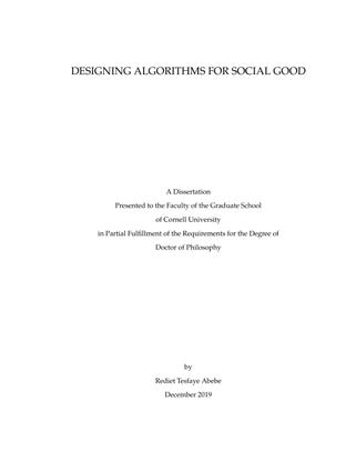 Designing Algorithms for Social Good – Rediet Tesfaye Abebe