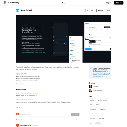 Figma - Annotate it! | Annotate it! is a plugin to help you automate the process of annotating your designs for a smooth...