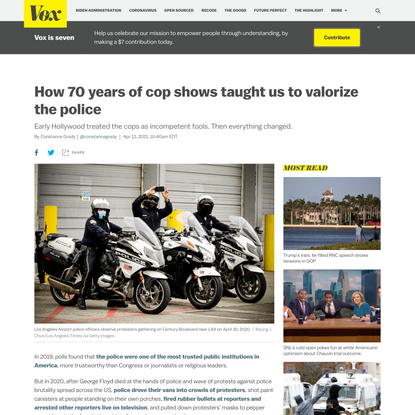 How 70 years of cop shows taught us to valorize the police