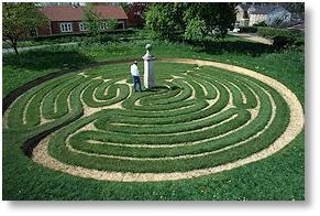 The Maze, Hilton, Cambridgeshire, cut 1660
