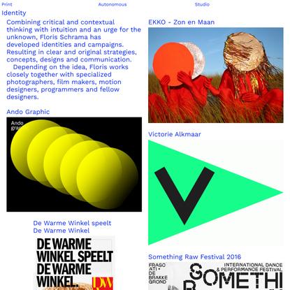 Home - Floris Schrama, Identity, WAX Print, Autonomous, Studio
