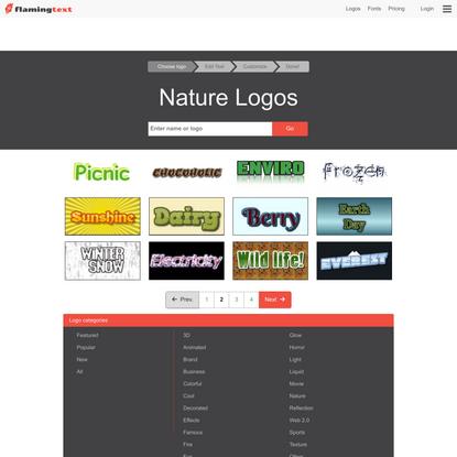 Nature Logos on FlamingText.com   Page 2