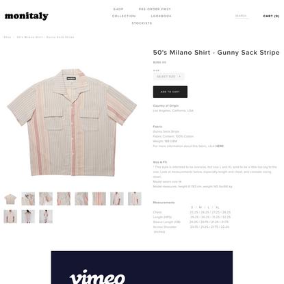 50's Milano Shirt - Gunny Sack Stripe — MONITALY