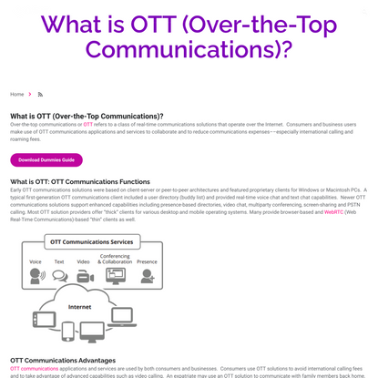 What is OTT (Over-the-Top Communications)? | Ribbon Communications