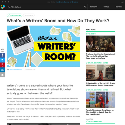 What's a Writers' Room and How Do They Work?
