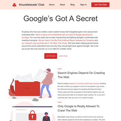 Google's Got A Secret - Knuckleheads' Club