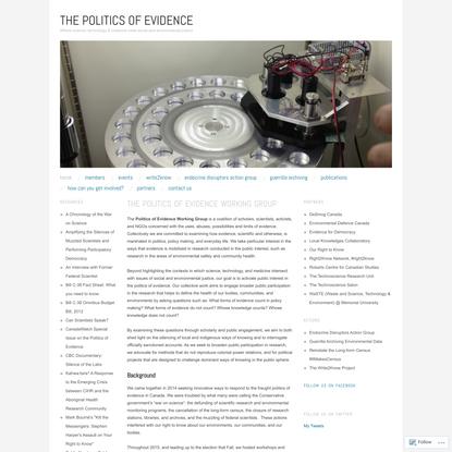 The Politics of Evidence