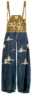 Long trousers (nagabakama) for kyōgen theater [from a set], early 20th century