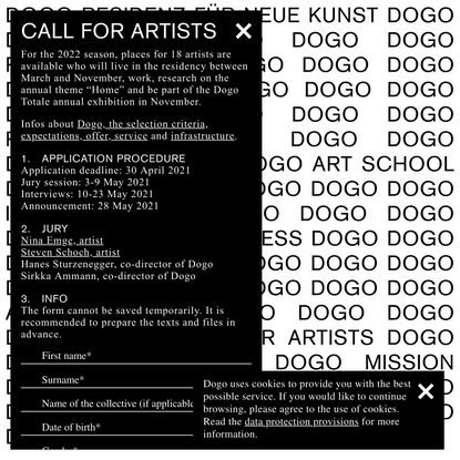 Dogo Residenz für Neue Kunst